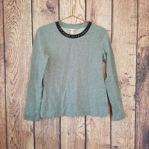 Banana Republic womens top Gray embeselled Size S